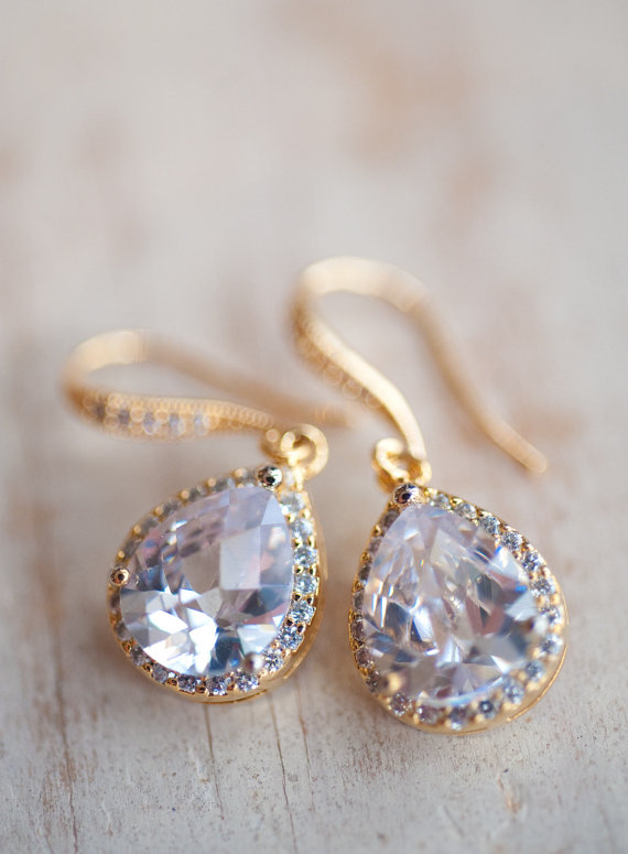 Affordable Bridal Jewelry Etsy Bridal Drop Earrings