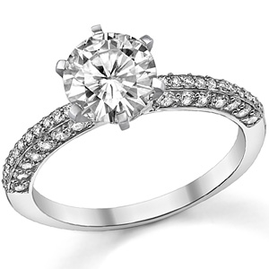 Moissanite & Diamond $995 - Moissanite & Co