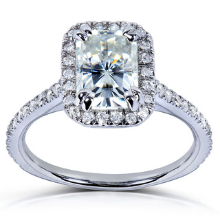 Overstock Moissanite & Diamond Ring