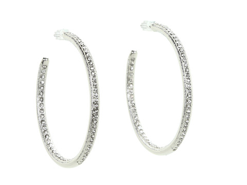 Vince Camuto Crystal Hoops - Zappos